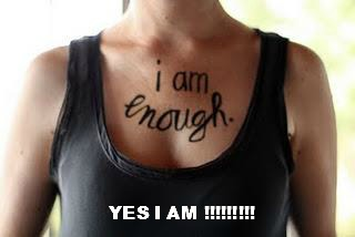 i am enough with wording